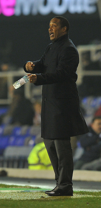 Blackpool's Manager Paul Ince issues his orders from the side lines..Football - npower Football League Championship - Birmingham City v Blackpool - Tuesday 05th March 2013 - St Andrews - Birmingham..© CameraSport - 43 Linden Ave. Countesthorpe. Leicester. England. LE8 5PG - Tel: +44 (0) 116 277 4147 - admin@camerasport.com - www.camerasport.com