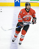 Randy Guzior (NU - 13) - The Northeastern University Huskies defeated the Harvard University Crimson 3-1 in the Beanpot consolation game on Monday, February 12, 2007, at TD Banknorth Garden in Boston, Massachusetts.