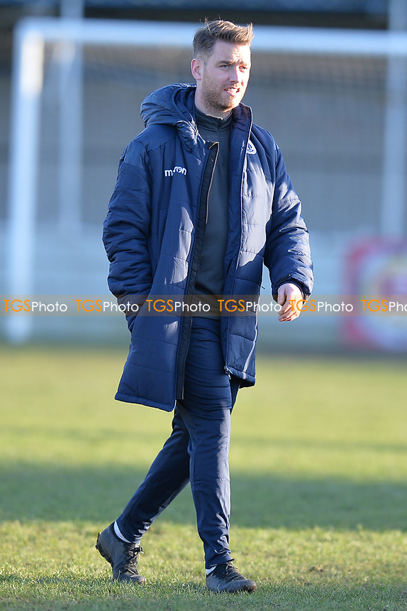 Walthamstow manager Max Mitchell during Walthamstow vs Sawbridgeworth Town, Essex Senior League Football at Wadham Lodge Sports Ground on 8th February 2020