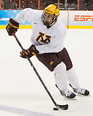 Brady Skjei (MN - 2) - The University of Minnesota Golden Gophers took part in a press conference and practice on Friday, April 11, 2014, during the 2014 Frozen Four at the Wells Fargo Center in Philadelphia, Pennsylvania.