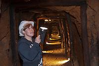 Europe/Espagne/Pays Basque/Guipuscoa/Goierri/Zerain: Complexe minier d'Aizpea: Situé dans la montagne du fer -  Galerie  - Aizpitta, Centre d'Interpretación de las minas : Moderne et interactif, montre au visiteur l'époque où on extrayait le fer.