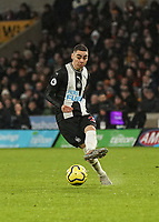 Newcastle United's Miguel Almiron<br /> Photographer Lee Parker/CameraSport<br /> <br /> The Premier League - Wolverhampton Wanderers v Newcastle United - Saturday 11th January 2020 - Molineux - Wolverhampton<br /> <br /> World Copyright © 2020 CameraSport. All rights reserved. 43 Linden Ave. Countesthorpe. Leicester. England. LE8 5PG - Tel: +44 (0) 116 277 4147 - admin@camerasport.com - www.camerasport.com