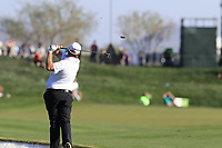 Shane Lowry (IRL) plays his 2nd shot on the 8th hole during Saturday's Round 3 of the Waste Management Phoenix Open 2018 held on the TPC Scottsdale Stadium Course, Scottsdale, Arizona, USA. 3rd February 2018.<br /> Picture: Eoin Clarke | Golffile<br /> <br /> <br /> All photos usage must carry mandatory copyright credit (&copy; Golffile | Eoin Clarke)