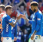 12.05.2019 Rangers v Celtic: James Tavernier and Connor Goldson
