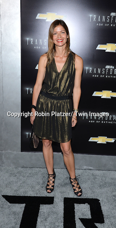 """Jill Hennessey attends the US Premiere of """"Transformers: Age of Extinction"""" on June 25, 2014 at The Ziegfeld Theatre in New York City, New York, USA."""