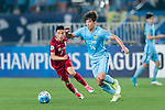 Jiangsu FC Defender Hong Jeongho (R) in action during the AFC Champions League 2017 Round of 16 match between Jiangsu FC (CHN) vs Shanghai SIPG FC (CHN) at the Nanjing Olympic Stadium on 31 May 2017 in Nanjing, China. Photo by Marcio Rodrigo Machado / Power Sport Images