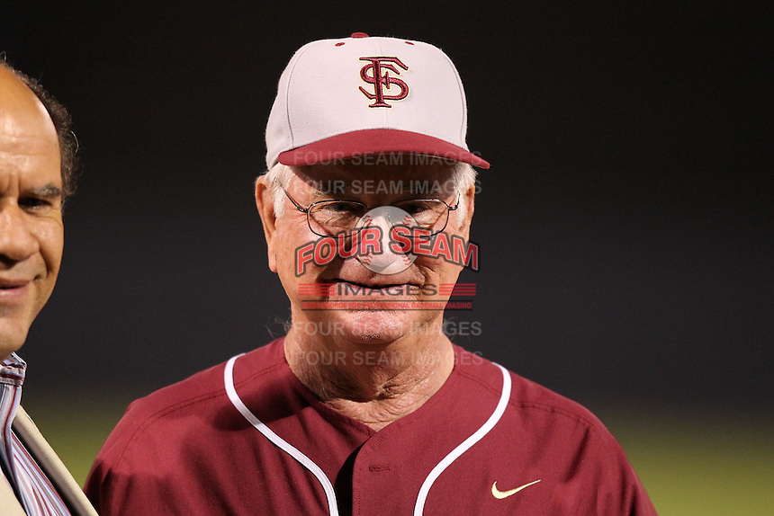 "Florida State Seminoles Mike Martin #11 during a game vs. the Florida Gators in the ""Florida Four"" at George M. Steinbrenner Field in Tampa, Florida;  March 1, 2011.  Florida State defeated Florida 5-3.  Photo By Mike Janes/Four Seam Images"