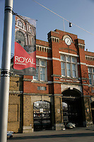 Royal Arsenal gate, Woolwich, southeast London, UK