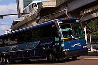 A Greyhound Lines bus is seen in Jacksonville, Florida Friday April 26, 2013.