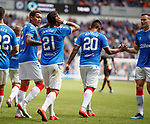 14.07.2019: Rangers v Marseille: Daniel Candeias with his hands over his ears after scoring
