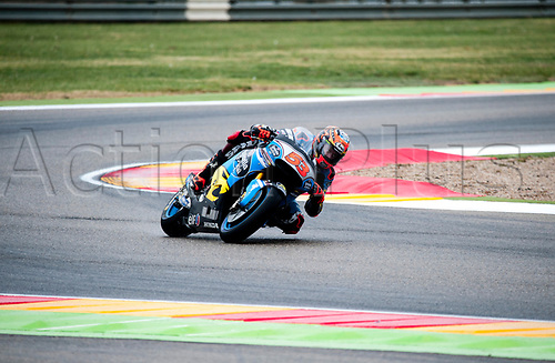 22nd September 2017, MotorLand Aragon, Alcaniz, Spain; MotoGP of Aragon, Friday free practice; Tito Rabat of the EG 0,0 Marc VDS Motogp Team rounds the bend