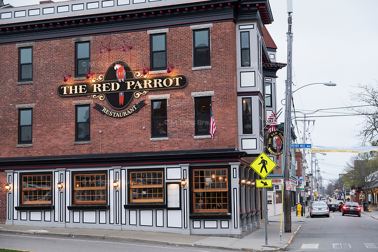 The Red Parrot is a restaurant and pub located on Thames Street in Newport, Rhode Island, seen here on Wed., April 19, 2017.