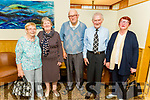 Lil Keane, Nellie Horgan, James Sullivan, Pat Joe Dennehy and Maureen Silles at the reunion of Ballinclogher NS Lixnaw in the Ballyroe Heights Hotel on Sunday afternoon.