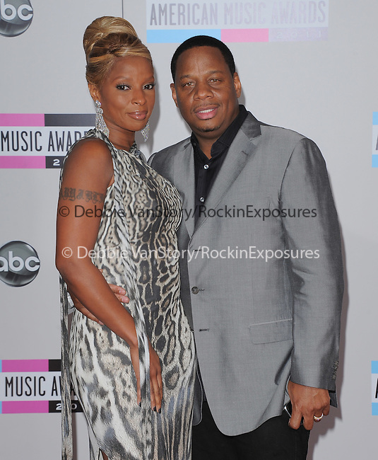 Mary J. Blige and husband attends 2011 American Music Awards held at The Nokia Theater Live in Los Angeles, California on November 20,2011                                                                               © 2011 DVS / Hollywood Press Agency