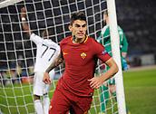 5th December 2017, Stadio Olimpic, Rome, Italy; UEFA Champions league football, AS Roma versus Qarabağ FK; Diego Perotti