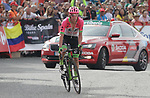 Rigoberto Uran (COL) EF-Drapac-Cannondale approaches the finish line on the final climb of Stage 19 of the La Vuelta 2018, running 154.4km from Lleida to Andorra, Naturlandia, Andorra. 14th September 2018.                   <br /> Picture: Colin Flockton | Cyclefile<br /> <br /> <br /> All photos usage must carry mandatory copyright credit (© Cyclefile | Colin Flockton)