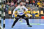 Rhein Neckar Loewe Andreas Palicka (Nr.12) mit Ball in der Hand beim Spiel in der Handball Bundesliga, Rhein Neckar Loewen - VfL Gummersbach.<br /> <br /> Foto &copy; PIX-Sportfotos *** Foto ist honorarpflichtig! *** Auf Anfrage in hoeherer Qualitaet/Aufloesung. Belegexemplar erbeten. Veroeffentlichung ausschliesslich fuer journalistisch-publizistische Zwecke. For editorial use only.