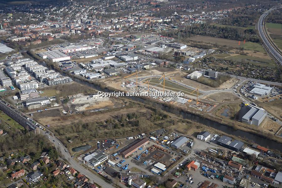 Schleusengraben: EUROPA, DEUTSCHLAND, HAMBURG, BERGEDORF (EUROPE, GERMANY), 24.02.2018 Schleusengraben