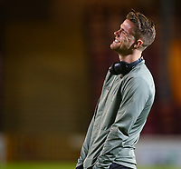 5th February 2020; Fir Park, Motherwell, North Lanarkshire, Scotland; Scottish Premiership Football, Motherwell versus Celtic; Kris Ajer of Celtic smiling on the pitch