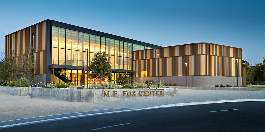 The M.E. Fox Center at West Valley College, Saratoga, California.  Steinburg Architects, Photographer GP Martin