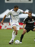 3 April 2004: Earthquakes Ramiro Corrales in action against DC United during the opening day at RFK Stadium in Washington DC.  DC United defeated Earthquakes 2-1.