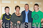 Liam, Noreen, Brendan and Adam King Caherciveen at the Kerry Community Games annual awards ceremony in the River Island Hotel Castleisland on Friday night