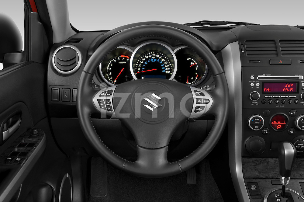 Steering wheel view of a 2009 Suzuki Grand Vitara