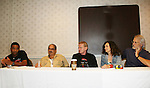 Brian Tyler, Apache Ramos, Thomas G. Waite, Deborah Van Valkenburgh, Michael Beck - The Warriors - 30 years reunion during Q & A at the Super Megashow & Comic Fest on August 30, 2009 in Secaucus, New Jersey (Photo by Sue Coflin/Max Photos)