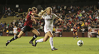 Santa Clara, CA - September 22, 2013:  Taylor Uhl on a breakaway during Stanford's 3-2 double overtime victory over Santa Clara at Buck Shaw Stadium, Santa Clara.