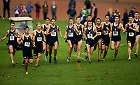 10/13/18: The U.S. Naval Academy midshipmen men's cross country team race head-to-head with the Army Black Knights, Saturday morning October 13, 2018, at the United States Naval Academy Golf Course in Annapolis, Maryland. <br /> <br /> Charlotte Photographer - PatrickSchneiderPhoto.com
