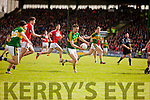 Marc Ó Sé   Kerry in action against Tom ClancyCork in the National Football league in Austin Stack Park, Tralee on Sunday.