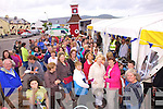 A large crowd gathers to watch the 'King Scallop Cook Off' competition held at the Foot on Valentia on Saturday with the eventual winner being crowned King on Sunday.