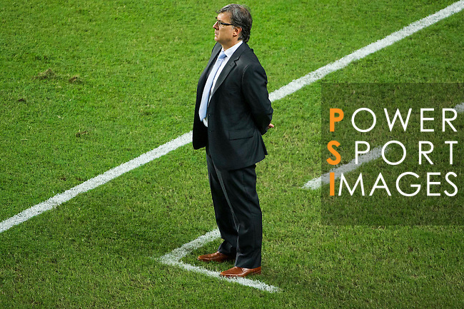 Head coach of Argentina Tata Martino looks on during the HKFA Centennial Celebration Match between Hong Kong vs Argentina at the Hong Kong Stadium on 14th October 2014 in Hong Kong, China. Photo by Chung Yan / Power Sport Images