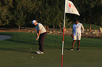 Raul Valtierra (AM) playing with Paul Waring (ENG) on the 6th green during the Pro-Am of the Abu Dhabi HSBC Championship 2020 at the Abu Dhabi Golf Club, Abu Dhabi, United Arab Emirates. 15/01/2020<br /> Picture: Golffile | Thos Caffrey<br /> <br /> <br /> All photo usage must carry mandatory copyright credit (© Golffile | Thos Caffrey)