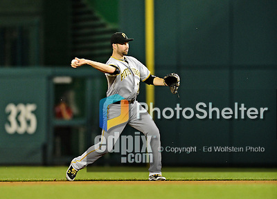 16 May 2012: Pittsburgh Pirates infielder Neil Walker in action against the Washington Nationals at Nationals Park in Washington, DC. The Nationals defeated the Pirates 7-4 in the first game of their 2-game series. Mandatory Credit: Ed Wolfstein Photo