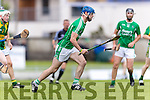 Kilmoyley in action against Anthony O'Carroll Ballyduff in the County Senior Hurling Final at Austin Stack Park on Sunday.