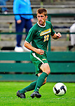 12 September 2010: University of Vermont Catamount midfielder Patrick Alonis, a Senior from Palo Alto, CA, in action against the Cornell University Big Red at Centennial Field in Burlington, Vermont. The Catamounts defeated the Big Red 2-1. Mandatory Credit: Ed Wolfstein Photo