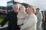 Michael, Angela and Caitlin Woods at the Bellewstown Races...Photo NEWSFILE/Jenny Matthews.(Photo credit should read Jenny Matthews/NEWSFILE)....This Picture has been sent you under the condtions enclosed by:.Newsfile Ltd..The Studio,.Millmount Abbey,.Drogheda,.Co Meath..Ireland..Tel: +353(0)41-9871240.Fax: +353(0)41-9871260.GSM: +353(0)86-2500958.email: pictures@newsfile.ie.www.newsfile.ie.FTP: 193.120.102.198.