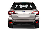 Straight rear view of 2019 Subaru Outback Premium 5 Door Wagon Rear View  stock images