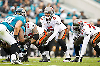 December 11, 2011:  Tampa Bay Buccaneers quarterback Josh Freeman (5) lines up under center during first half action between the Jacksonville Jaguars and the Tampa Bay Buccaneers played at EverBank Field in Jacksonville, Florida.  ........