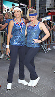 NEW YORK, NY-August 08: Paula Faris, Sara Haines at Good Morning America going for GMA Olympic Gold in New York. NY August 08, 2016. Credit:RW/MediaPunch