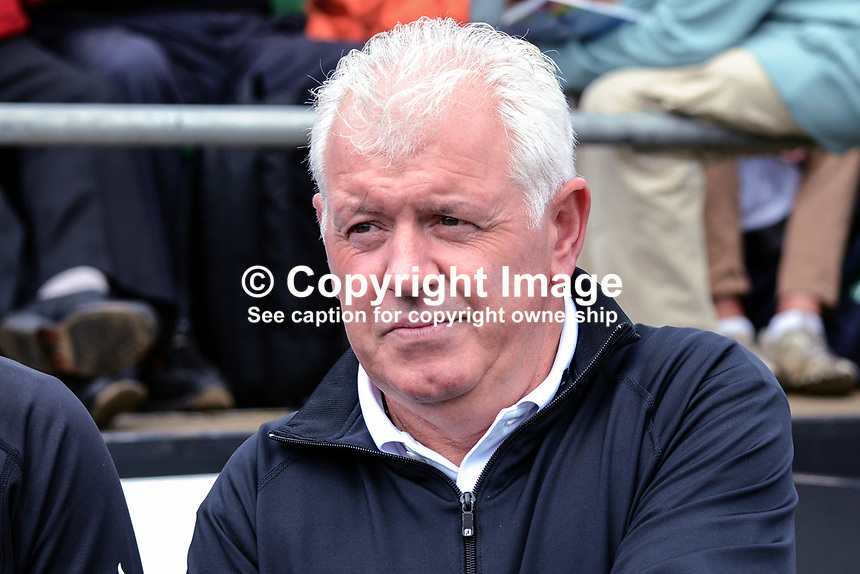 Gerry McIlroy, father of Rory McIlroy, professional golfer, N Ireland, 201206270405..Photo taken 27th June 2012 on the first tee, Pro-Am competition, Irish Open Championship, Royal Portrush Golf Club, N Ireland...© Victor Patterson, 54 Dorchester Park, Belfast, N Ireland. Tel: +44 2890661296; Mobile: +44 7802 353836; Emails: victorpatterson@me.com & victorpatterson@gmail.com; www.victorpatterson.com
