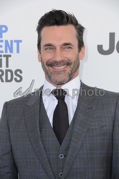 25 February 2017 - Santa Monica, California - Jon Hamm. 2017 Film Independent Spirit Awards held held at the Santa Monica Pier. Photo Credit: Birdie Thompson/AdMedia