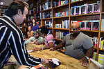 CORAL GABLES, FL - SEPTEMBER 21: Mitchell Kaplan, Big Gipp of the Goodie Mob and CeeLo Green greets fans and signs copies of his book 'Everybodys Brother' at Books and Books on September 21, 2013 in Coral Gables, Florida. (Photo by Johnny Louis/jlnphotography.com)