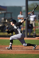 Chicago White Sox catcher Jacob Cooper (22) during an Instructional League game against the Los Angeles Dodgers on October 15, 2016 at the Camelback Ranch Complex in Glendale, Arizona.  (Mike Janes/Four Seam Images)