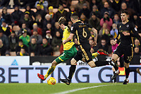 James Maddison of Norwich City makes no mistake and buries the ball for the winner during Norwich City vs Millwall, Sky Bet EFL Championship Football at Carrow Road on 1st January 2018