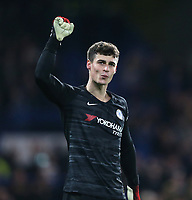 Chelsea's Kepa Arrizabalaga celebrates at the end of the game<br /> <br /> Photographer Rob Newell/CameraSport<br /> <br /> The Emirates FA Cup Fifth Round - Chelsea v Liverpool - Tuesday 3rd March 2020 - Stamford Bridge - London<br />  <br /> World Copyright © 2020 CameraSport. All rights reserved. 43 Linden Ave. Countesthorpe. Leicester. England. LE8 5PG - Tel: +44 (0) 116 277 4147 - admin@camerasport.com - www.camerasport.com