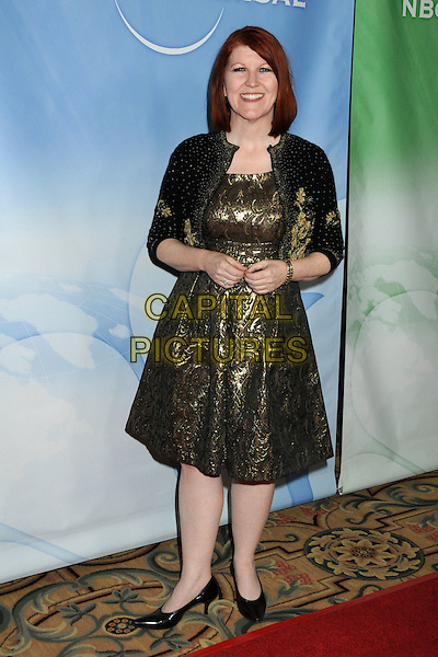 KATE FLANNERY  .NBC Universal Press Tour Cocktail Party held at the Langham Hotel, Pasadena, California, USA, 10th January 2010..full length green shiny dress jacket black shoes embroidered patent bolero .CAP/ADM/BP.©Byron Purvis/AdMedia/Capital Pictures.