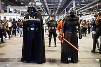 Darth Vader and Kylo Ren cosplay at Expocomic 2016 in Madrid, Spain. December 03, 2016. (ALTERPHOTOS/BorjaB.Hojas) /NORTEPHOTO.COM