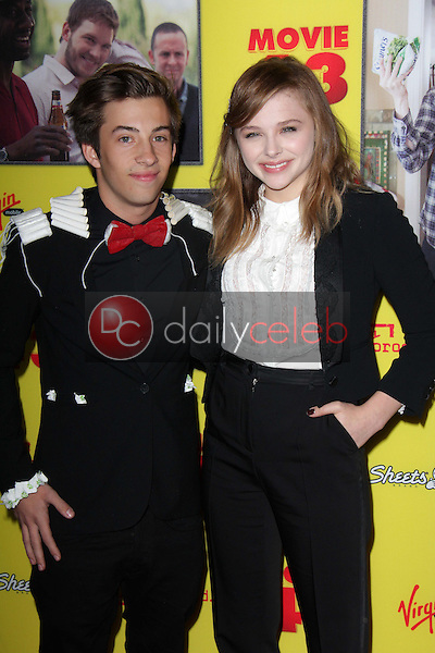 Jimmy Bennett, Chloe Grace Moretz<br /> at the &quot;Movie 43&quot; Los Angeles Premiere, Chinese Theater, Hollywood, CA 01-23-13<br /> David Edwards/DailyCeleb.com 818-249-4998